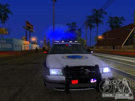 Ford Crown Victoria Police Interceptor 2008 para GTA San Andreas vista superior