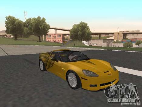 Chevrolet Corvette Z06 para vista lateral GTA San Andreas