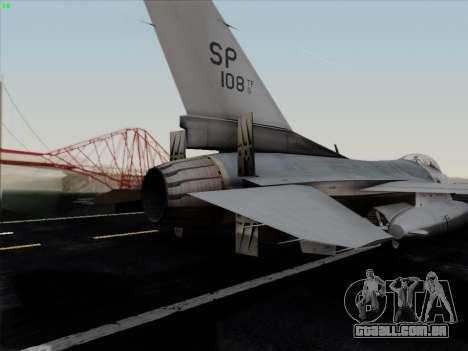 F-16C Warwolf para o motor de GTA San Andreas