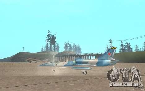 L-39 Albatross para GTA San Andreas traseira esquerda vista