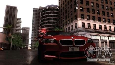 BMW M5 F10 2012 para GTA San Andreas traseira esquerda vista