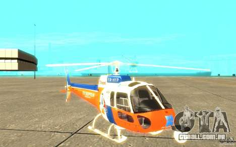 AS-350 TV para GTA San Andreas esquerda vista