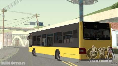 MAN Lion City para GTA San Andreas esquerda vista