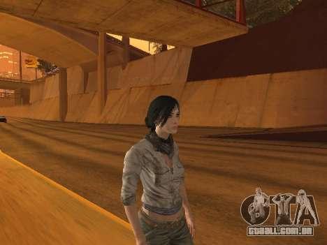 FaryCry 3 Liza Snow para GTA San Andreas segunda tela