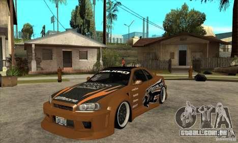 Nissan Skyline GTR - EMzone B-day Car para GTA San Andreas