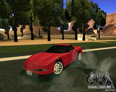 Chevrolet Corvette C5 z06 para GTA San Andreas vista direita