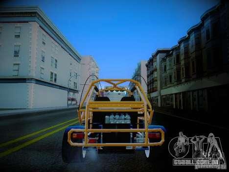 Buggy From Crash Rime 2 para GTA San Andreas traseira esquerda vista