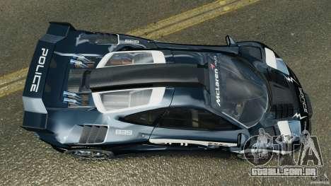 McLaren F1 ELITE Police [ELS] para GTA 4 vista direita