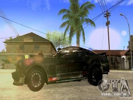 Ford Mustang Death Race para GTA San Andreas vista traseira