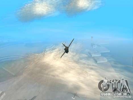 MiG-15 com armas para GTA San Andreas vista traseira