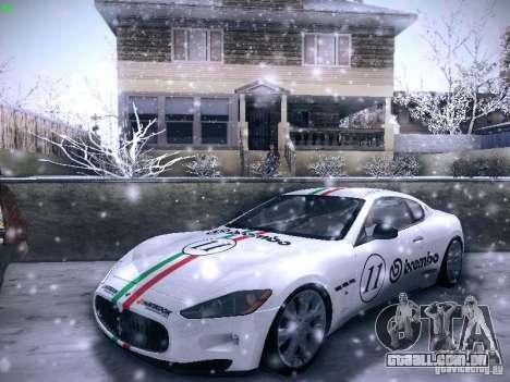 Maserati Gran Turismo S 2011 V2 para GTA San Andreas vista interior