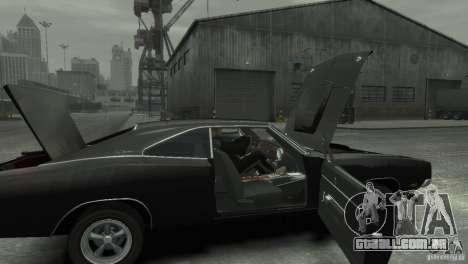 Dodge Charger RT 1969 Tun para GTA 4 vista de volta