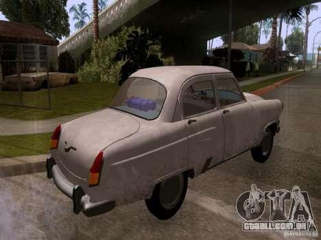 GAZ 21 Volga para GTA San Andreas traseira esquerda vista