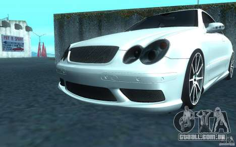 Mercedes-Benz CLK55 AMG para GTA San Andreas esquerda vista
