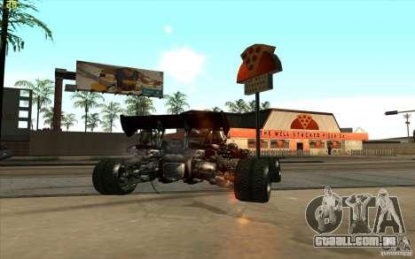 XCALIBUR CD 4.0 XS-XL RACE Edition para GTA San Andreas traseira esquerda vista