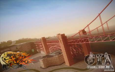 New Golden Gate bridge SF v1.0 para GTA San Andreas sexta tela