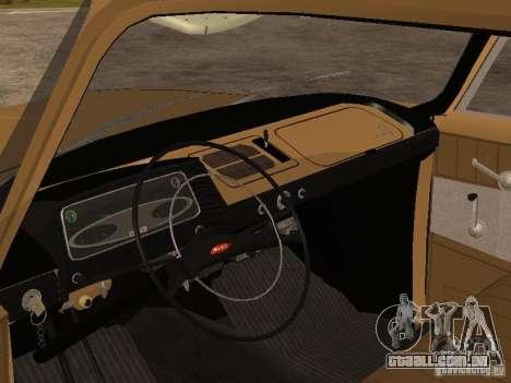 Elite Moskvitch 408 para GTA San Andreas vista direita