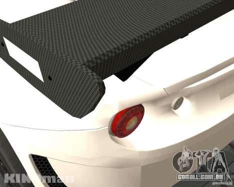 Lotus Evora Type 124 para GTA San Andreas traseira esquerda vista