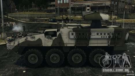 Stryker M1134 ATGM v1.0 para GTA 4 esquerda vista
