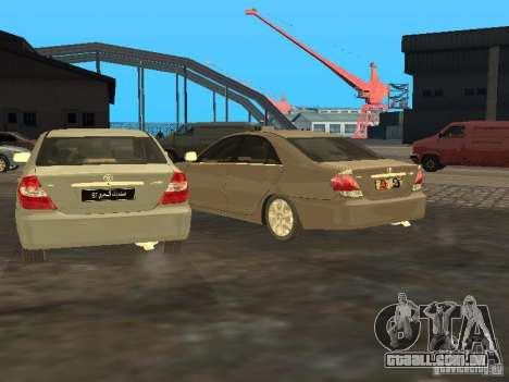 Toyota Camry 2003 para GTA San Andreas vista interior