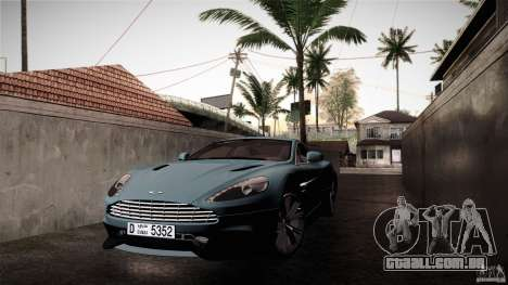 Aston Martin Vanquish V12 para GTA San Andreas vista traseira
