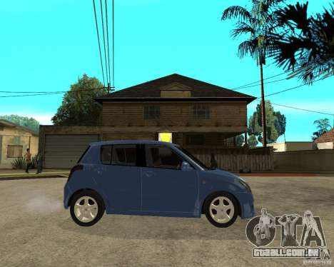2007 Suzuki Swift para GTA San Andreas vista direita