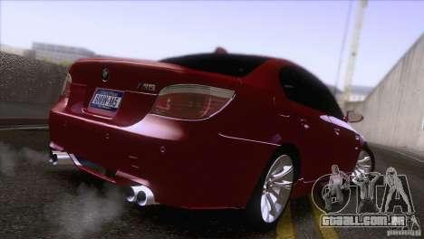 BMW M5 2009 para GTA San Andreas esquerda vista