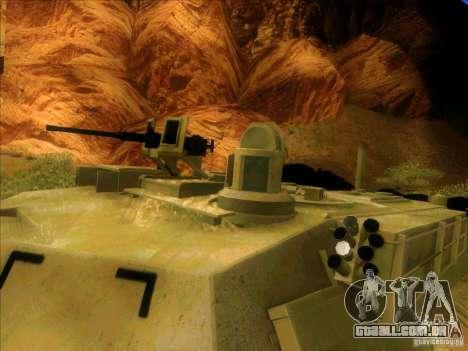 M1A2 Abrams de Battlefield 3 para GTA San Andreas vista interior