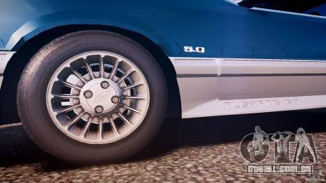 Ford Mustang GT 1993 Rims 1 para GTA 4 vista superior