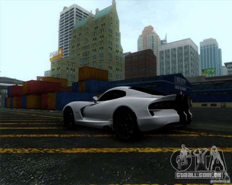 Dodge Viper SRT 2013 para GTA San Andreas vista direita