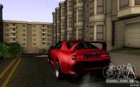 Toyota Supra D1 1998 para GTA San Andreas vista direita