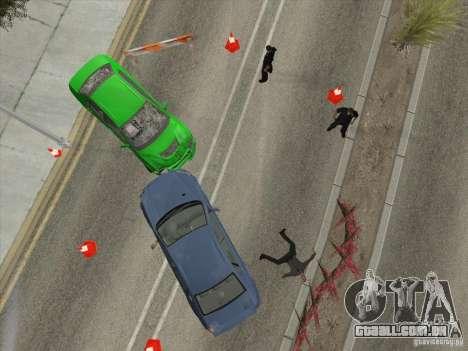 Acidente na estrada para GTA San Andreas quinto tela