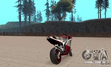 Ducati 999R para GTA San Andreas esquerda vista