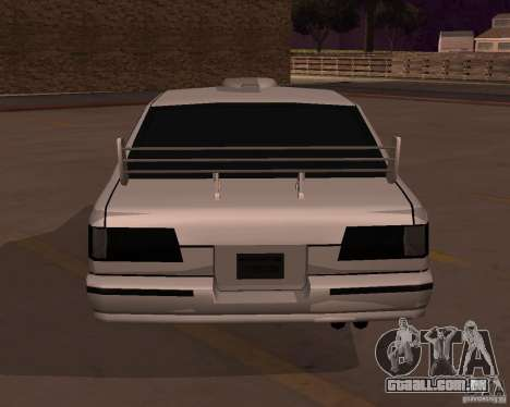 Taxi para GTA San Andreas traseira esquerda vista