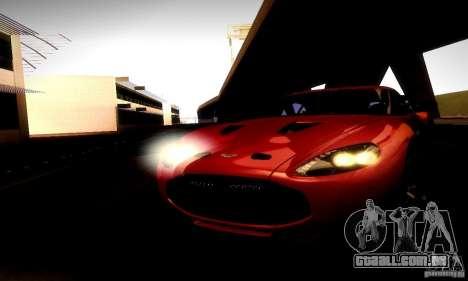Aston Martin V12 Zagato Final para GTA San Andreas vista interior