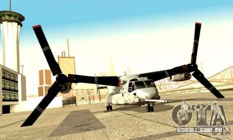 MV-22 Osprey para GTA San Andreas vista direita