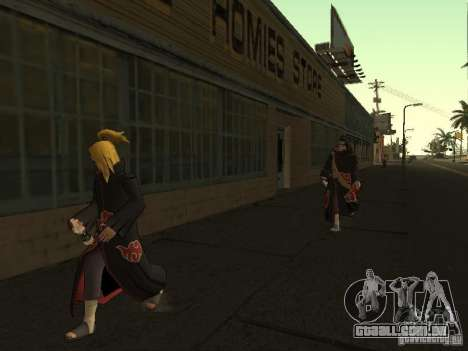 The Akatsuki gang para GTA San Andreas sexta tela