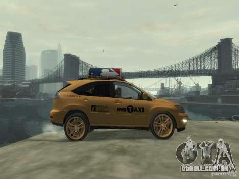 Lexus RX400 New York Taxi para GTA 4 vista interior