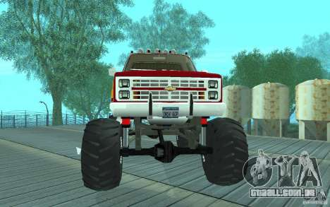 Chevrolet Silverado 2500 MonsterTruck 1986 para GTA San Andreas esquerda vista