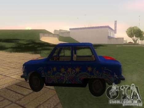 Hippie ZAZ para GTA San Andreas esquerda vista