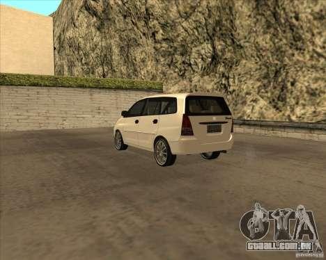 Toyota Innova para GTA San Andreas vista direita
