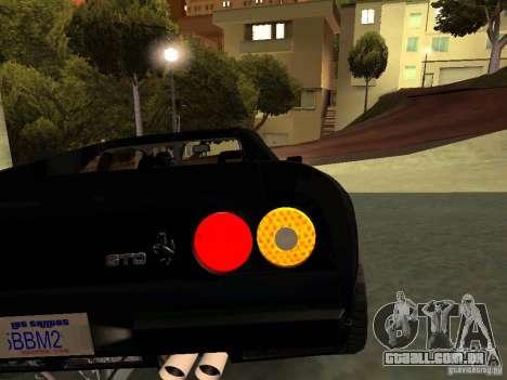 Ferrari 288 GTO para GTA San Andreas vista inferior