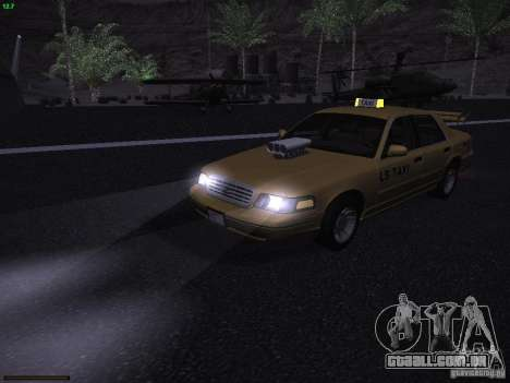 Ford Crown Victoria Taxi 2003 para GTA San Andreas vista superior