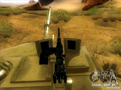 M1A2 Abrams de Battlefield 3 para GTA San Andreas vista superior