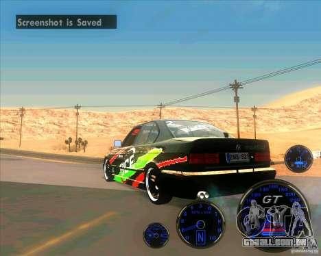 BMW E34 V8 - Darius Balys para GTA San Andreas esquerda vista