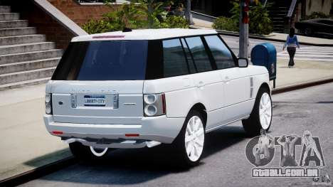 Range Rover Supercharged 2009 v2.0 para GTA 4 vista lateral