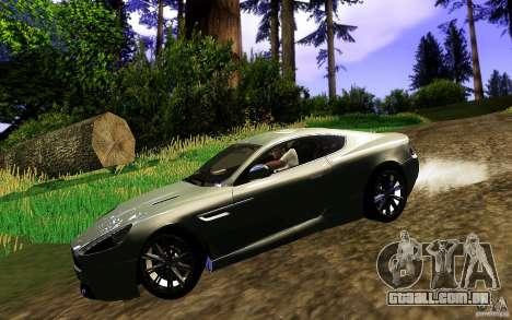 Aston Martin Virage V1.0 para GTA San Andreas vista direita