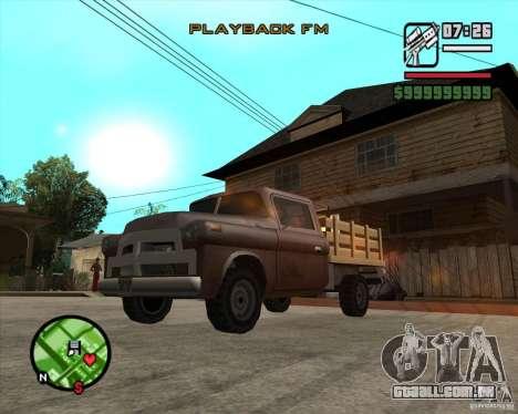 Walton HD para GTA San Andreas traseira esquerda vista