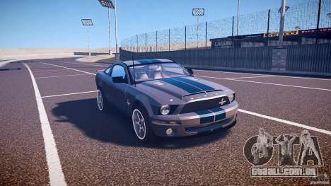 Shelby GT500kr para GTA 4 vista interior