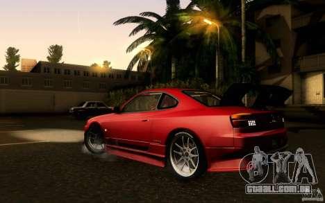 Nissan Silvia S15 Drift Style para GTA San Andreas esquerda vista